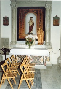 inside the wee Church of St. Nicoli' Castelvecchio Pascoli, Barga, Tuscany