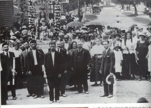 1913 the first St. Mary's Church Procession