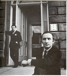 Richaard Demarco 1967 outside his Melville Street Gallery