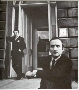 Richaard Demarco 1967 outside his Melville Street Gallery