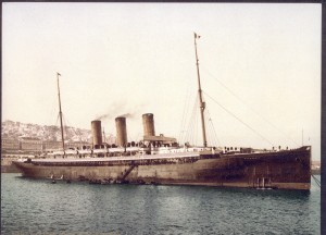 Liner Normannie, the ship Peter Dante crossed the Atlantic in 1897