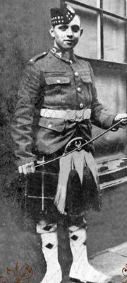 Peggy's grandad Angus MORRISON.   Photographed here in Uniform.  He was born in Edinburgh Castle