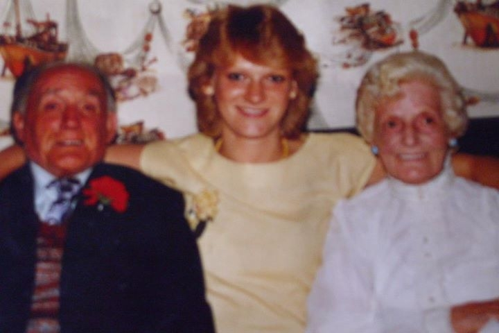 LYNN STANTON with her granny Mary Sutherland Stanton.