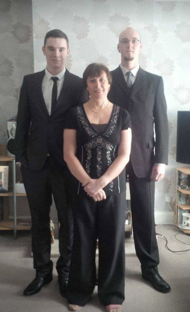 Diane with her sons