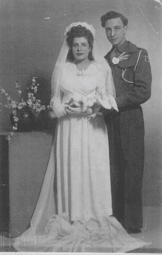 Joseph's parents on their wedding day in Greece